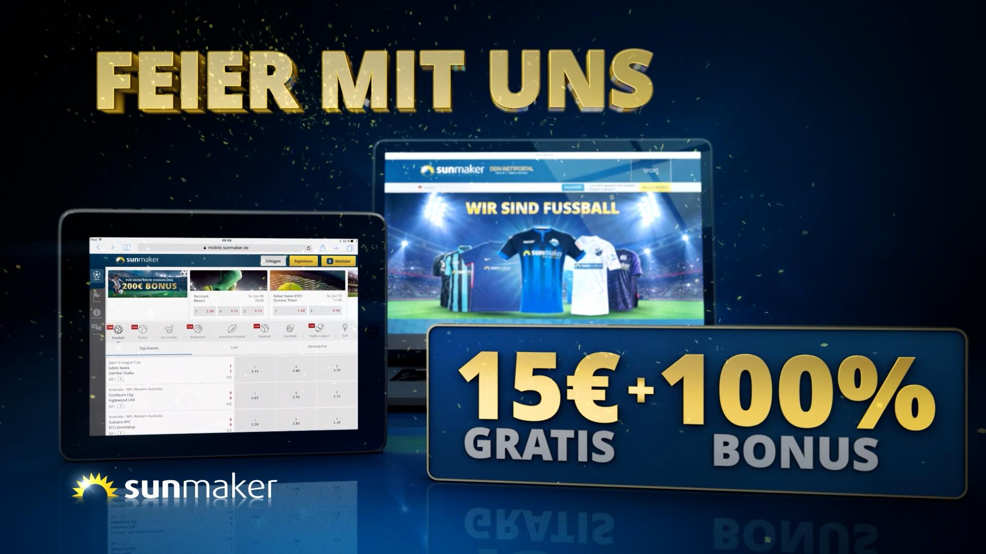 sunmaker TV-Spot Mega Sponsorship
